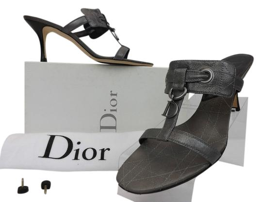 Preload https://item3.tradesy.com/images/dior-silver-cannage-dusty-leather-cd-charm-sandals-38-pumps-size-us-8-regular-m-b-3867007-0-0.jpg?width=440&height=440