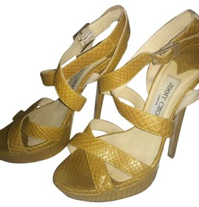 Jimmy Choo Python Choos Snakeskin mustard Sandals