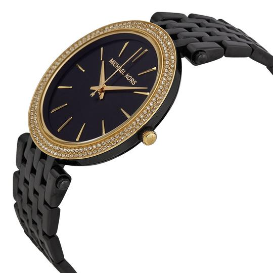 Michael Kors Michael Kors Crystal Bezel Black Dial Ladies Fashion Watch