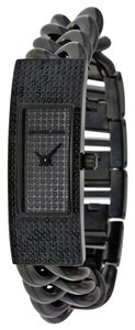 Michael Kors Michael Kors Black Crystal Encrusted Dial Chain Twist Ladies Watch