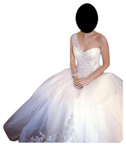 Oleg Cassini Oleg Cassini One-shoulder Wedding Dress Wedding Dress