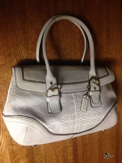 Coach Signature Leather Jacquard Satchel Vintage Hobo Bag
