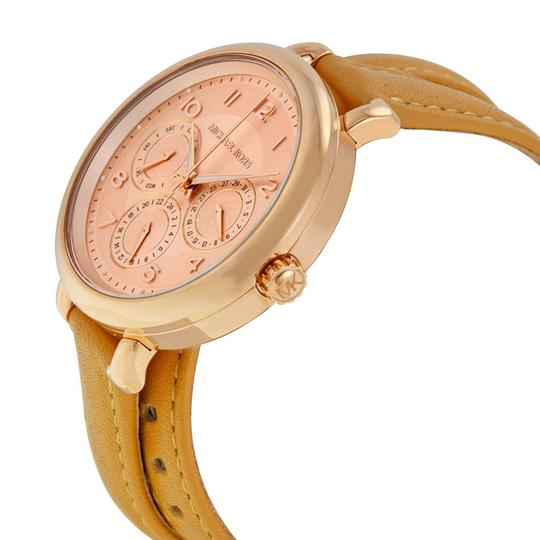 Michael Kors Michael Kors Rose Gold Dial Taupe Leather Wrap Bracelet Ladies Watch