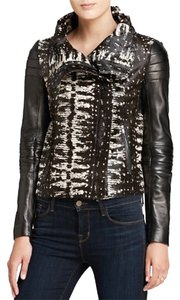 Diane von Furstenberg Black and white Leather Jacket