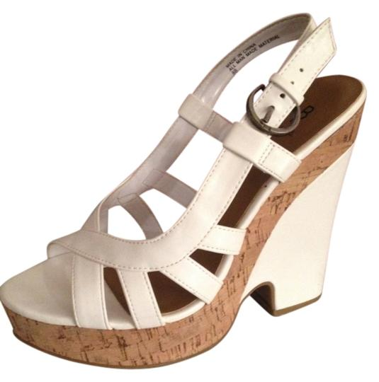 Bakers White & Cork Wedges