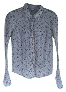 Abercrombie & Fitch Button Down Shirt White/Floral