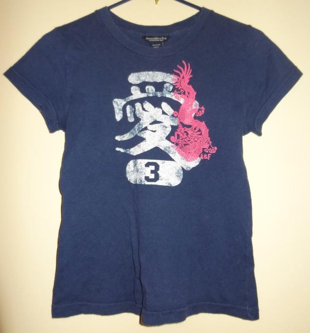 Preload https://item4.tradesy.com/images/abercrombie-and-fitch-dark-blue-oriental-dragon-tee-shirt-size-6-s-38688-0-0.jpg?width=400&height=650