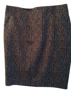 Ann T LOFT Skirt Slate blue with black