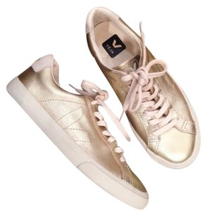 Veja Gold Metallic Leather Athletic