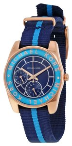 Michael Kors Michael Kors Multi-Function Navy Dial Navy and Blue Nylon Ladies Watch
