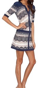 BCBGMAXAZRIA short dress Multi Blue on Tradesy