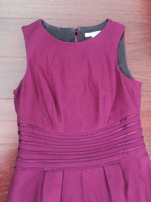 Banana Republic Wear To Work Work Office Sheath Holiday Party Christmas Party Wool Wool Work Sleeveless Wool Professional Dress