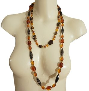 Other Necklace Doublet 2 Tortoise Faux Amber Bead Necklaces