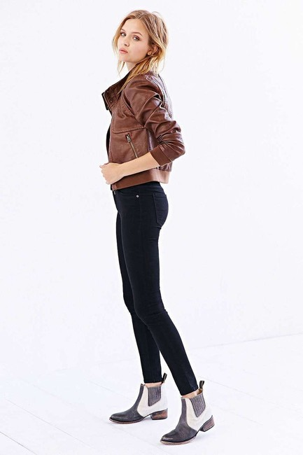Members Only Aviator Bomber Leather Brown Jacket Image 2