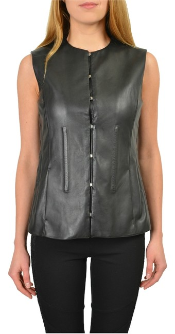 Maison Margiela Black Leather Women's Vest Size 8 (M) Maison Margiela Black Leather Women's Vest Size 8 (M) Image 1