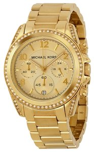 Michael Kors Michael Kors Gold Tone Crystal Stainless Steel Glitz Ladies Watch
