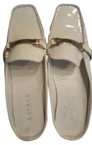 Ralph Lauren Patent Leather Summer Mule White Mules