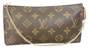 Louis Vuitton Pouch Coin Wallet Clutch Wristlet Satchel in Monogram