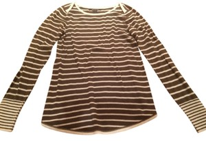 Lucky Brand White Stripe Striped Shirt Long Sleeve Long-sleeved Longsleeve Long-sleeve Sweater