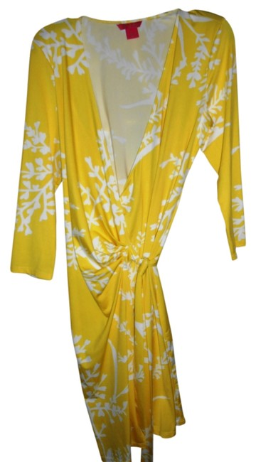 Sunny Leigh short dress Yellow and white on Tradesy