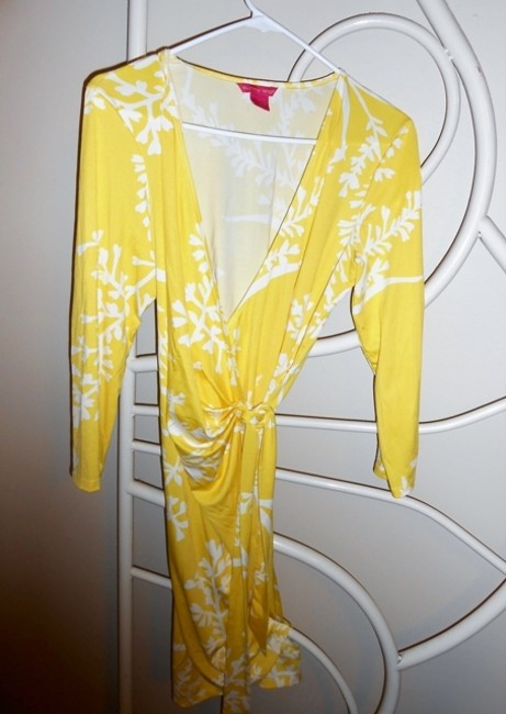 Sunny Leigh short dress Yellow and white on Tradesy Image 4