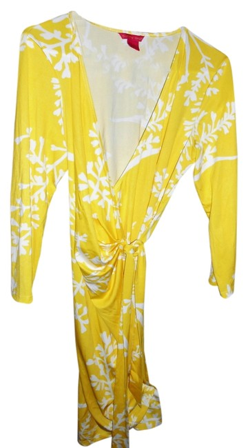 Sunny Leigh short dress Yellow and white on Tradesy Image 5