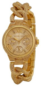 Michael Kors Michael Kors Gold Dial Crystal Pave Encrusted Chain Twist Ladies Watch
