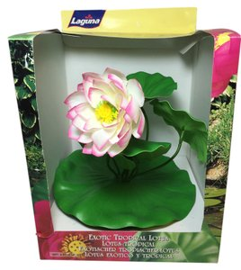 Lotus Pool / Water Garden Float; 100% Silk by Laguna (Large: 11
