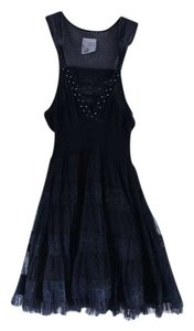 Free People short dress Black Lace Sequin on Tradesy