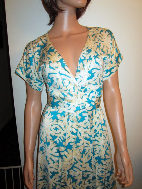 Diane von Furstenberg Wrap Toby Dvf Silk Short Sleeves Dress