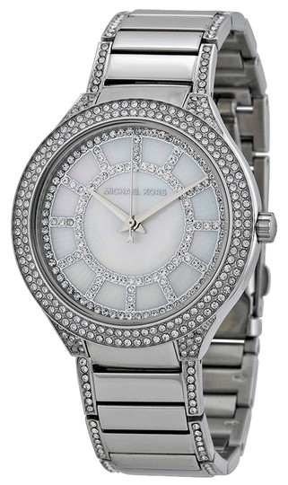 Michael Kors Michael Kors Crystal and Mother of Pearl Dial Silver Tone Ladies Watch