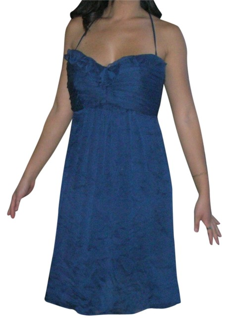 Preload https://item1.tradesy.com/images/amsale-midnight-blue-ruffled-ruched-silk-halter-french-knee-length-cocktail-dress-size-8-m-3870115-0-5.jpg?width=400&height=650