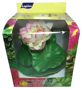 Lotus Pool / Water Garden Float; 100% Silk by Laguna (Medium: 6.5