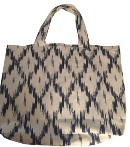 Paige Denim Ballerina Tote Ikat Blue And White Beach Bag