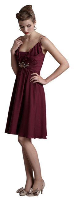 Anthropologie Berry Couplet Knee Length Night Out Dress Size 6 (S) Anthropologie Berry Couplet Knee Length Night Out Dress Size 6 (S) Image 1
