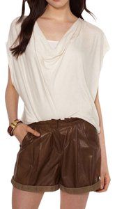 Haute Hippie Silk Draped Top Swan