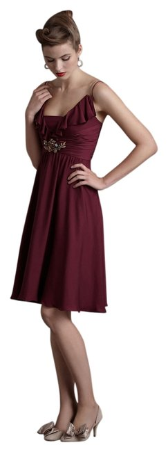 Preload https://item4.tradesy.com/images/anthropologie-berry-spaghetti-strap-with-ruffle-detailing-mid-length-cocktail-dress-size-10-m-3870598-0-0.jpg?width=400&height=650