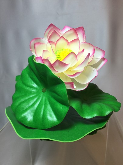 "Other Lotus Pool / Water Garden Float; 100% Silk by Laguna (Medium: 6.5""H x 7""W) [ Roxanne Anjou Closet ]"