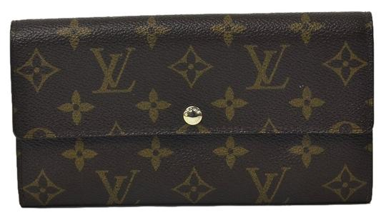 Louis Vuitton Authentic Louis Vuitton Monogram Sarah Fleuri Wallet with Rose Interior