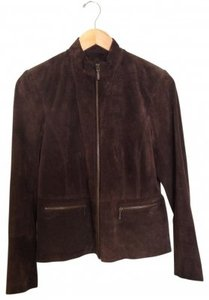Alfani Suede Brown Leather Jacket