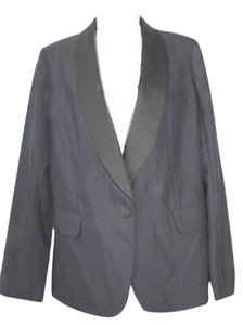 J.Crew Black Satin Shawl Lapels Wool Blazer