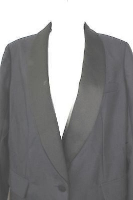 J.Crew Black Satin Shawl Wool Blazer