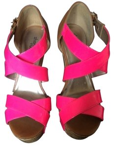 Charlotte Russe Summer Pink and tan Wedges