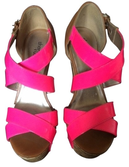 Preload https://item3.tradesy.com/images/charlotte-russe-pink-and-tan-wedges-size-us-6-3871132-0-0.jpg?width=440&height=440