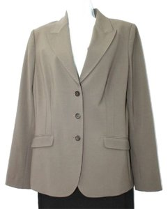 Elie Tahari Taupe Stretch Wool Jacket Blazer