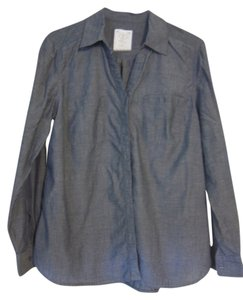 Style & Co Button Down Shirt Chambray
