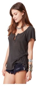Wildfox Couture Lounge Wear T Shirt Dirty Black
