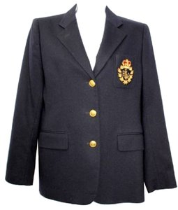 Ralph Lauren Black Wool Blazer