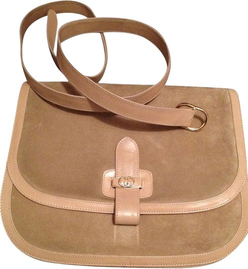 Gucci Gucci Tan Suede Clutch/Bag