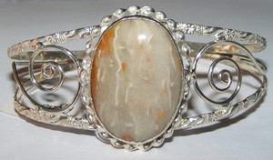 Polished Agate Cuff Bracelet Free Shipping